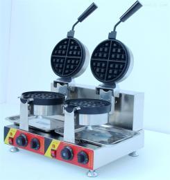 NP-596雙頭旋轉華夫爐深格松餅機烤餅小吃設備