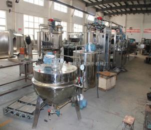 上海合强全自动硬糖、棒棒糖生产线 双色糖果浇注生产线 糖果成型设备