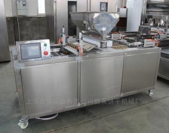 上海合强供应单排/双排蛋糕注心机 全自动蛋糕注馅机 PLC蛋黄派设备生产厂家