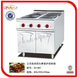 EH-887杰冠+立式电四头电磁炉连电焗炉/煮汤炉
