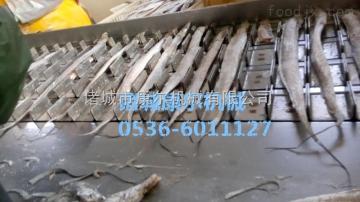 QY-700新型改良版冻鱼带鱼切段机链条式厂家直销
