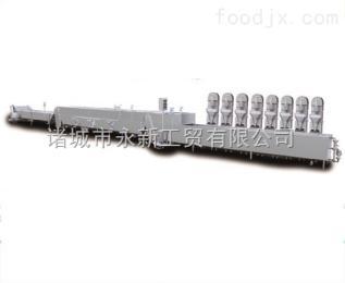 WX-8艾博德专业定制全自动丸子成型蒸煮杀菌冷却油炸流水线长度可定制