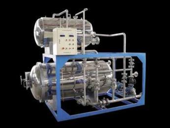 手動型雙層電加熱噴淋式高溫高壓調理殺菌釜