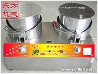 东方机械销售燃气双锅爆玉米花机 音乐型爆米花机