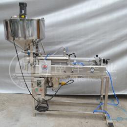 广州半自动气动加热搅拌定量灌装机