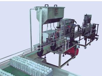 YZG-3-1型厂家直销 广州自动液体灌装机 液体灌装锁盖生产线