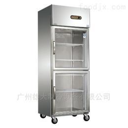 XD67阳泉-双玻璃门厨房冷柜