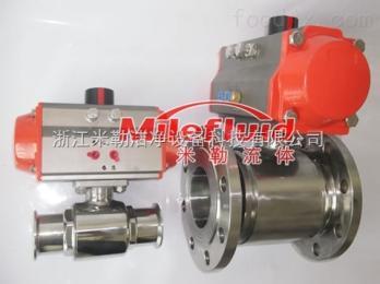 ML-QF卫生级不锈钢法兰球阀规格