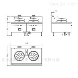 PEA-CS-2中式雙頭蒸爐