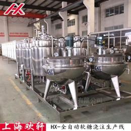 HX-TG300型全自動果膠軟糖澆注生產設備線