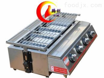 不銹鋼四頭節能燃氣燒烤爐,夜市烤串燒烤機