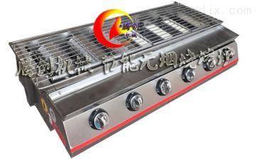 不銹鋼六頭節能環保燃氣燒烤爐,紅外線液化氣烤面筋爐