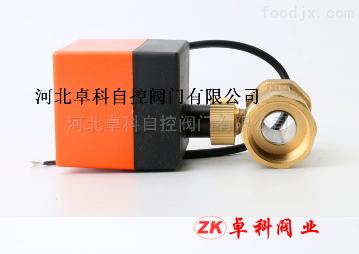 TK260黃銅中央空調風機盤管電動閥 電動球閥