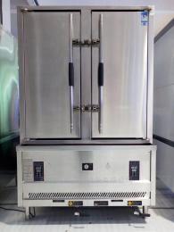 商用天然氣雙門蒸車 西安巨尚廚房設備