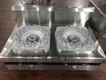 商用天然氣雙眼矮湯爐 西安巨尚廚房設備