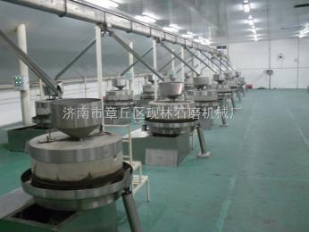 70香油电动石磨机五谷杂粮磨浆石磨 液化气环保芝麻炒锅