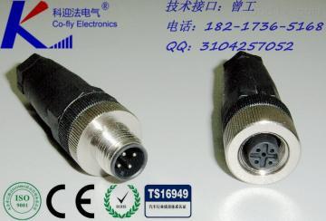 Ip67交换机,M12面板法兰工控机连接器