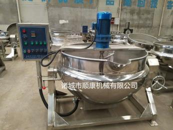 电加热搅拌锅 蒸汽带搅拌夹层锅 蒸汽夹层锅厂家