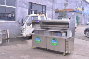 JR-200-2-G供应湖南1.5米不锈钢无烟烧烤车价格