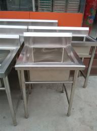 单双三水池不锈钢水池厨房设备加工安装