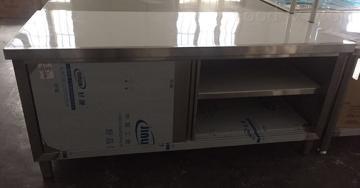 1.5米不锈钢拉门工作台调理加工承接厨房工程