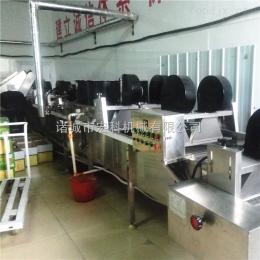 HK-46翻转平行风干线 常温高温吹干设备 肉类蔬菜小包装真空袋吹水设备