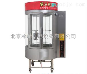 bj87圓形玻璃旋轉烤雞鴨爐|全自動氣炭兩用烤雞