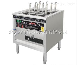 bj76燃气立式煮麻辣烫机器|立式商用燃气煮面炉厂家|多功能立式燃气煮面机
