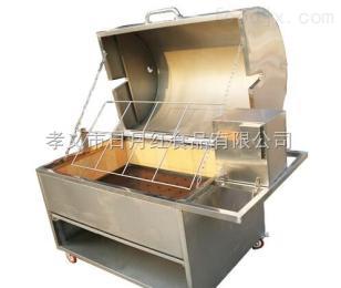 北京自動翻轉烤乳豬機|新款烤羊腿羊排爐子|無煙木炭烤羊腿爐