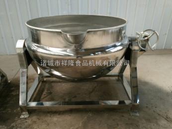100L厂家直销腰果阿胶熬制可倾式电加热蒸汽搅拌夹层锅