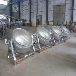 400lL厂家直销不锈钢大型炒锅 新型全自动不锈钢带搅拌刮底夹层锅