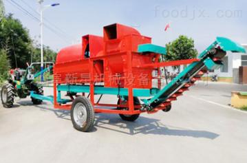8000拖拉機后輸出軸帶動8000型花生摘果機