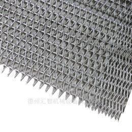 可 不锈钢网带 挡板网带 输送网带 螺旋网带