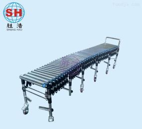 可折叠无动力滚筒输送机/伸缩滚筒线/伸缩输送线/伸缩输送机/厂家
