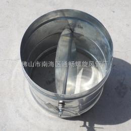通暢手動風閥螺旋風管配件螺旋風管廠家專業生產