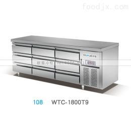 WTC-1500FHA重庆不锈钢1.5米工作台冰柜