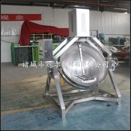 100L半自動大骨湯熬油底料行星攪拌燃氣炒料機