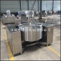 DER-300L蒲公英茶行星搅拌炒锅 电磁加热控温节能 全自动火锅底料炒料机
