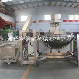 100L方便面调料行星搅拌炒锅 不锈钢自动上料机