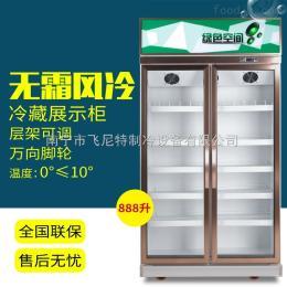 LG-688F双门饮料柜广西南宁超市冷柜便利店饮料柜冷藏展示柜厂家直销