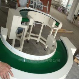 -600食品輸送機爬坡食品皮帶輸送圓形輸送線