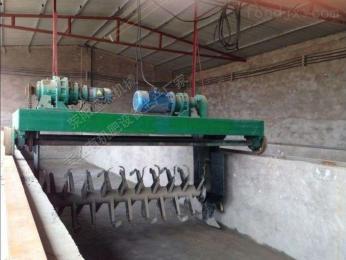 FDJ-2000山东槽式翻堆机 猪粪有机肥发酵设备