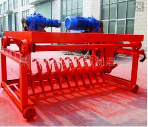 齐全鸡粪有机肥发酵设备 槽式翻堆机生产线价格