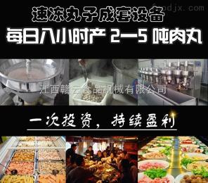 日產量2-5噸肉丸設備制作速凍丸子日產量2-5噸肉丸設備