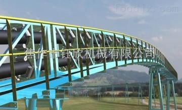 管狀帶式輸送機四川綿陽管狀帶式輸送機 新型環保