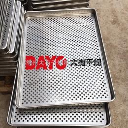 640*460*45GMP干燥箱烘盘 GMP不锈钢烘盘 不卷边药厂专用烘盘