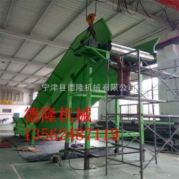 dl-50供應壓鑄機冷卻線鏈板輸送機 不銹鋼板鏈提升機 爬坡網鏈輸送機
