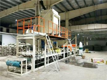 轻质复合防火大型砂浆岩棉复合板生产设备安装调试操作