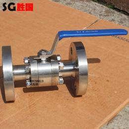 Q41F-100P三片式圆钢法兰高压球阀 手动锻钢球阀