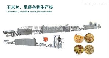 MT70全自动膨化玉米片生产线速溶燕麦粉机器玉米原材料加工营养早餐玉米片设备